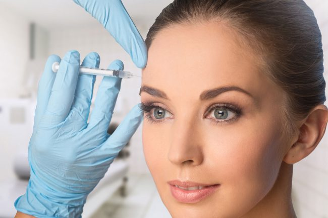 Young Woman Botox Injections